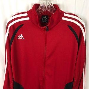 adidas Jackets & Coats - Adidas full zip track jacket NWOT red black